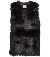 elenore waistcoat outerwear faux fur svart unmade copenhagen