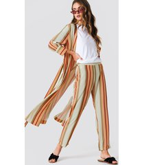 trendyol striped trousers - multicolor
