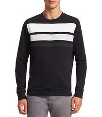 modern sponge line crewneck sweater