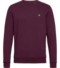 crew neck sweatshirt sweat-shirt trui paars lyle & scott