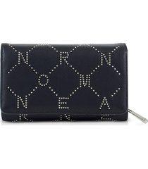 ermanno scervino designer wallets, signature flap wallet w/zip pocket