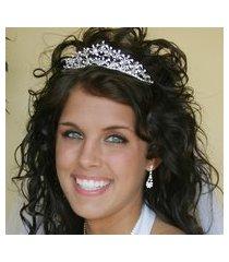 sabrina swarovski heart bridal tiara