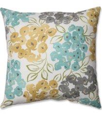 "luxury floral pool 18"" throw pillow"