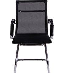 cadeira de escritório tela fixa - preta