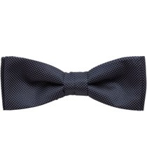 boss men's bow tie with micro dots