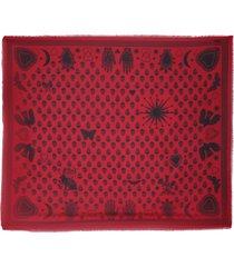 alexander mcqueen shawl mystical biker scarf