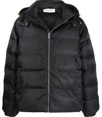 1017 alyx 9sm hooded padded jacket - black