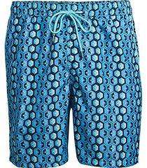 geometric swim shorts