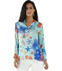 blouse amy vermont turquoise::multicolor