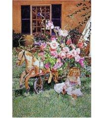 "david lloyd glover rose garden party canvas art - 37"" x 49"""