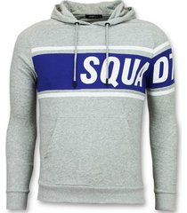 sweater enos trui met capuchon - grijze hoodie -