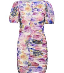printed mesh dresses party dresses multi/mönstrad ganni