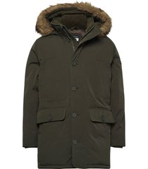 anf mens outerwear parka jacka grön abercrombie & fitch
