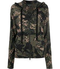 zadig & voltaire animal-print hoodie - green