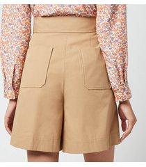 a.p.c. women's diane shorts - camel - fr 36/uk 8