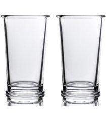 bomshbee ring high ball glasses - set of 2