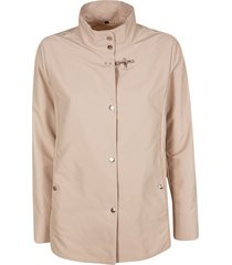 fay high neck buttoned jacket