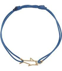 aliita shark charm bracelet - blue
