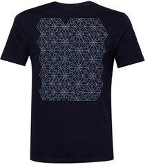 camiseta dudalina careca multi hexagonos masculina (azul marinho, gg)