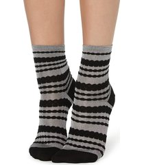 calzedonia - fancy patterned socks, one size, grey, women
