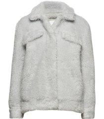 colbie jacket 10430 outerwear faux fur grå samsøe samsøe