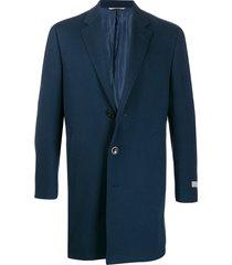 canali single-breasted midi coat - blue