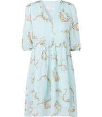 jurk met print omega  blauw