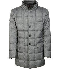 fay button-up padded jacket