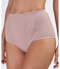 calcinha de algodão love secret modeladora maternidade cintura alta bege escuro