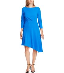 vince camuto 3/4-sleeve asymmetric a-line dress