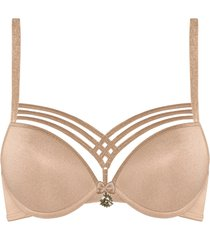 dame de paris push up bh | wired padded sand and golden lurex - 70a