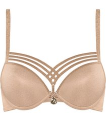 dame de paris push up bh | wired padded sand and golden lurex - 80a
