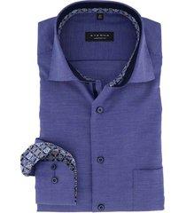 eterna comfort fit overhemd donkerblauw motief