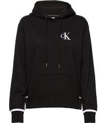 ck embroidery tipping hoodie hoodie svart calvin klein jeans