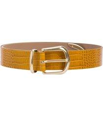 b-low the belt calf leather belt - yellow