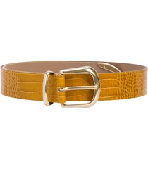 b-low the belt calf leather belt - yellow