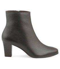 ankle boot couro mr cat comfort new feminina