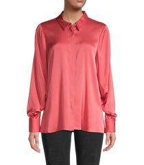 felicity stretch-silk shirt