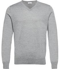 m. merino v-neck sweater gebreide trui v-hals grijs filippa k