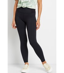 maurices womens ultra high rise black ribbed waist luxe leggings