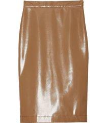 burberry vinyl pencil skirt - neutrals