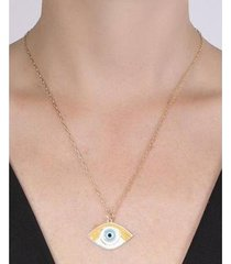colar de metal com laranja raísa atacado bijuterias feminino