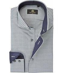 circle of gentlemen overhemd cedar micro design navy contrast slim fit