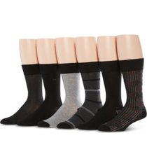 perry ellis men's 6-pk. speed dry printed socks