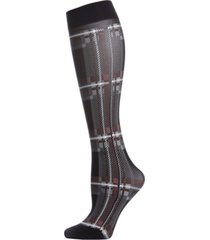 printed plaid women's knee high socks