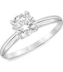 14k white gold & 2 tcw lab-grown diamond solitaire engagement ring