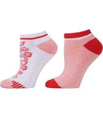 floral mix socks, 2 pair pack, women's, white, josie