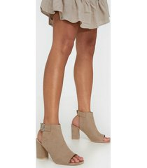 nly shoes open toe city heel high heel beige