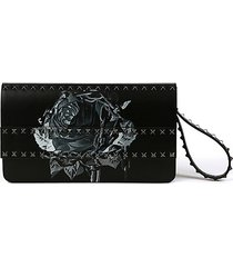 leather rockstud undercover rose clutch