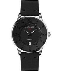 orologio da uomo impermeabile cronografo da uomo in pelle al quarzo ultra sottile con cronografo chronos